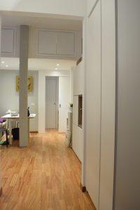 armadio su misura in legno bianco