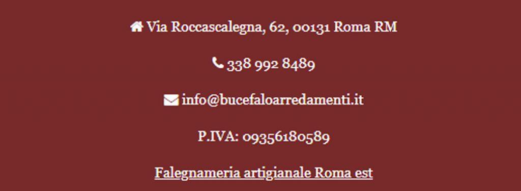 BUCEFALO ARREDAMENTI FALEGNAME ECONOMICO ROMA