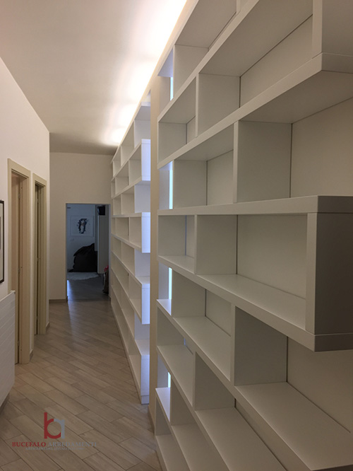 Librerie A Muro Su Misura.Librerie Su Misura Roma Bucefalo Arredamenti